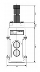 Botoeira Pendente JNG COB-1361