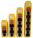 Botoeira Pendente JNG XCD-63  6 botões de comando + 1 botão STOP
