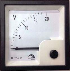 Voltímetro Instrumenti Corrente Continua 20VCC 72x72mm