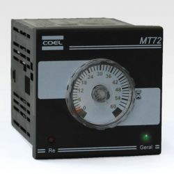 Temporizador percentual Analógico Microprocessado Coel MT72WPR-IS-P 60S 24~240VCA