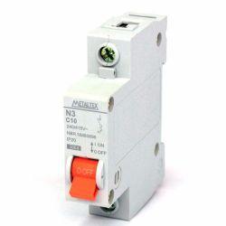 Mini disjuntor termomagnético unipolar 50A Metaltex - N3-1C50