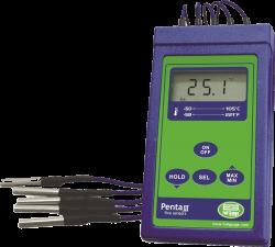 Termômetro Portátil c/ 5 Sensores Full Gauge PENTA III 9V