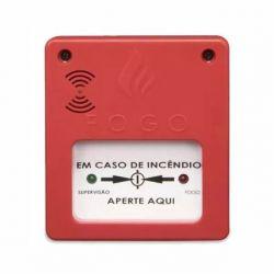 Acionador Manual para Alarme de Incendio Convencional com Sirene Conjugada 24V
