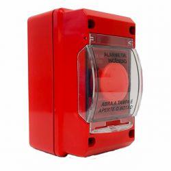 Acionador Manual para Alarme de Incendio Convencional IP-55 24V