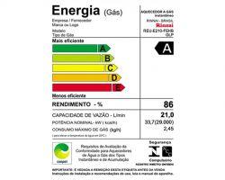 Aquecedor Gás Digital Rinnai 21L REU-E210 FEHB GLP