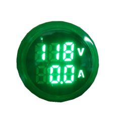 Voltimetro e Amperimetro Digital 60-500vca 0-100 22mm C/ Tc