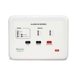 Central de Alarme de Incêndio Convencional - 12V 6 setores