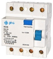 Interruptor Diferencial JNG DZL176-4-25 Tetrapolar 25A
