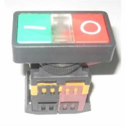 Botão de Comando Duplo JNG LAY80-PW855 Retangular