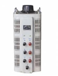 Regulador de tensão VARIAC JNG TSGC2-6 Trifásico, corrente 8A, capacidade 3KVA (220V)/6KVA (380V)