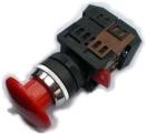 Botão de Emergência s/ Retenção STOP JNG LAY80-PC45 Vermelho