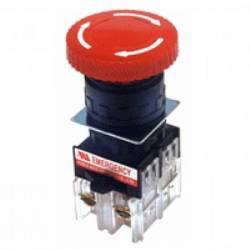 Botão emergência (STOP) c/ Retenção / Gira-destrava LAY80-PSL545