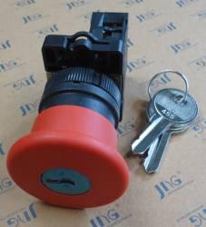 Botão de emergência (STOP) Gira-destrava c/ chave JNG LAY5-ES14 Vermelho
