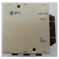 Contator de Potência Tripolar JNG CJX2-F265 CA~