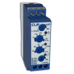 Monitor de Tensão Trifásico/Falta e Assimetria (min e max) de Fase CLIP - CLPT